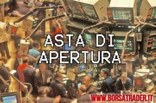 Borsa: l'asta di apertura