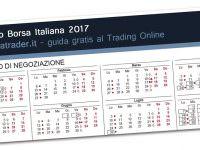 Calendario borsa 2017