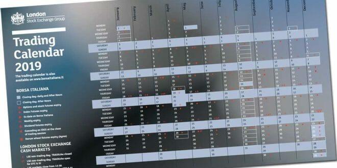 Calendario Borsa Americana 2020.Calendario Borsa Italiana 2019 Orari E Giorni Di Chiusura