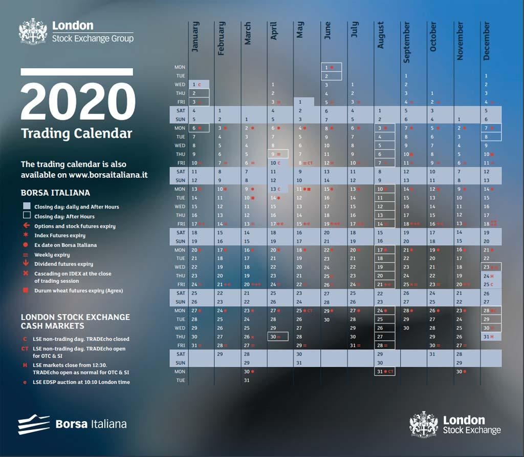 Calendario Borsa Italiana 2020: orari e giorni di chiusura   guida