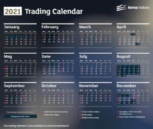 Calendario Borsa Italiana 2021